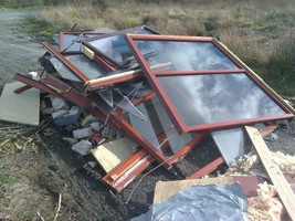Appeal for information: Suspected illegal dumping of construction & demolition waste in Cosnakie Woods, Pitcairngreen