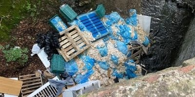 Appeal for information on illegal dumping in North Lanarkshire River
